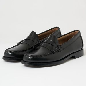 G.H Bass & Co Weejums Black  Penny Loafers